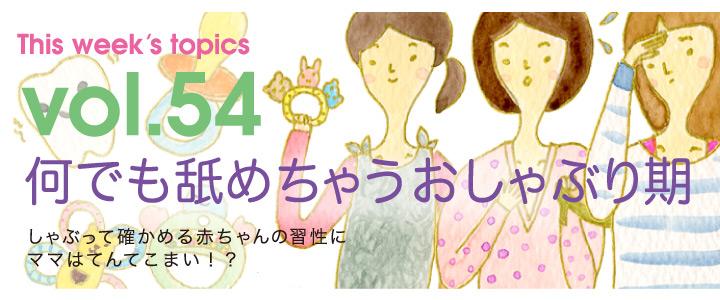 Vol.54 何でも舐めちゃうおしゃぶり期